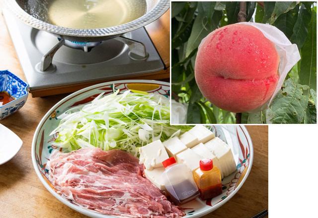 【送料込】生鮮便第73回  ねぎ豚しゃぶしゃぶと桃