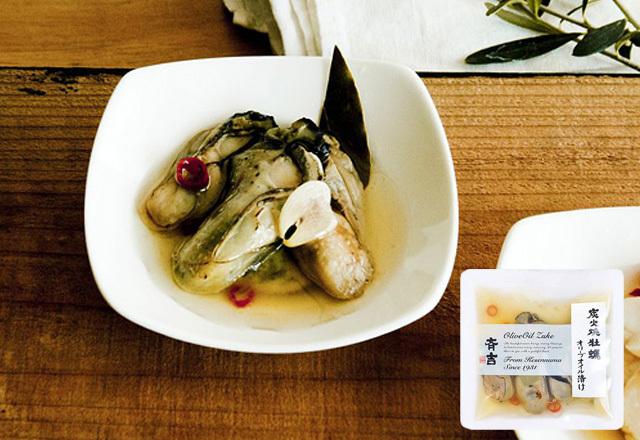 炭火焼牡蠣オリーブオイル漬け