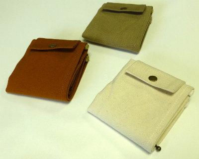 帆布二つ折り財布[尾道 帆布鞄 彩工房]【メール便可】