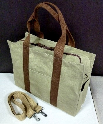 KASIWA(A4ファイル対応)2WAYバッグ(ショルダー・手提げ)パソコンバッグとして最適 [尾道 帆布鞄 彩工房]