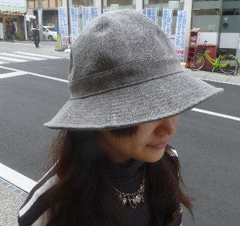 帆布帽子メトロハット [尾道 帆布鞄 彩工房]