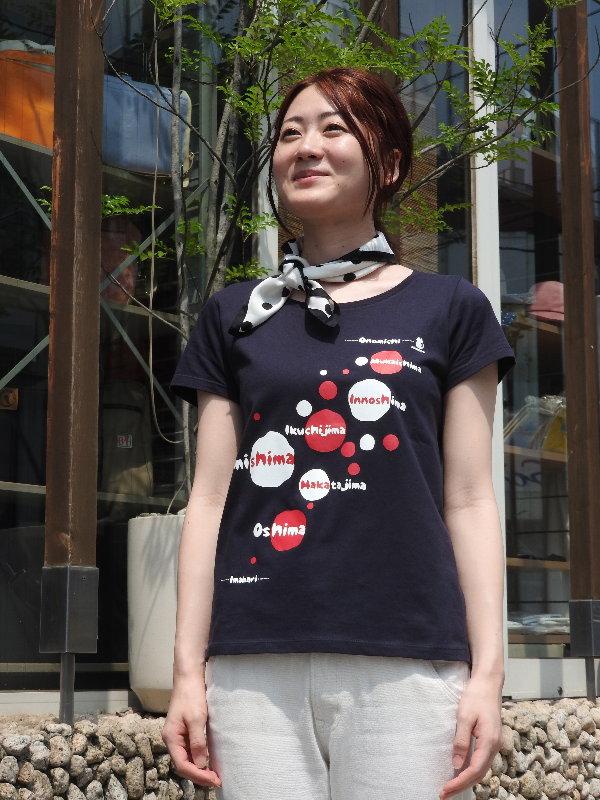 しまなみ海道x彩工房 Tシャツ[尾道 帆布鞄 彩工房]【メール便可】