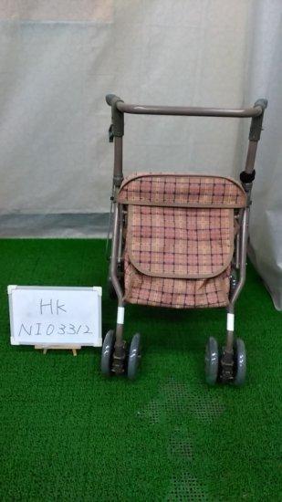 歩行器・杖「シンフォニーSP」(島製作所/茶/四輪歩行器/Bランク)[HK-NI03312]