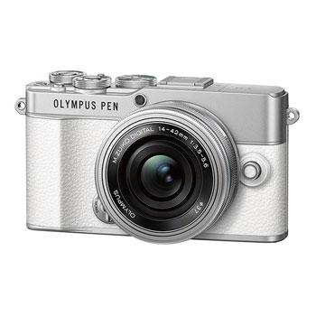 【在庫あり】オリンパス E-P7 14-42mm EZ レンズキット ホワイト【オリンパスキャンペーン対象製品】【選べる5年間延長保証対象(別料金)】
