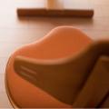 赤ちゃんから大人まで使座面・背面の調整が無段階スライド。フレキシットチェアベーシック チルト機能で美しい姿勢に 本体チーク色×シート(テラコッタ)