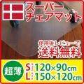 サカモトハウス×イメクスポ社コラボ スーパーチェアマットPC(ポリカーボネート)製 Sサイズ900×1200mm/Lサイズ1200×1500mm