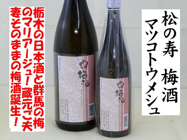 松の寿 梅酒 マツコトウメシュ 日本酒仕込 梅酒通販 日本酒ショップくるみや