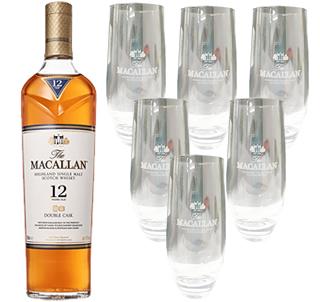 <12/14まで特価>マッカラン ダブルカスク12年(正規)(1112114) 1本ご購入で、ハイボールグラス6個プレゼント
