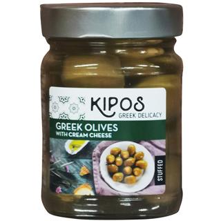 キポス・グリーンオリーブ・クリームチーズ入り(230g)(9999958)