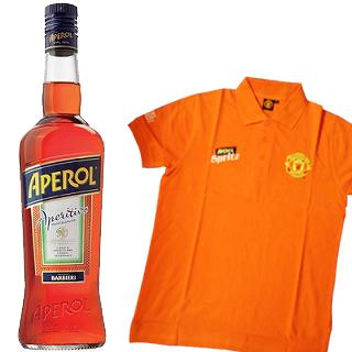 アペロール(11度/700ml)(4010004) 1本ご購入で、ポロシャツ1枚プレゼント!