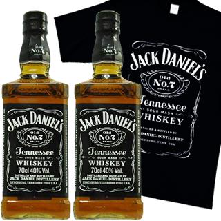 ジャックダニエル・ブラック(40度/700ml)(1032004) 2本ご購入で、Tシャツ1枚プレゼント