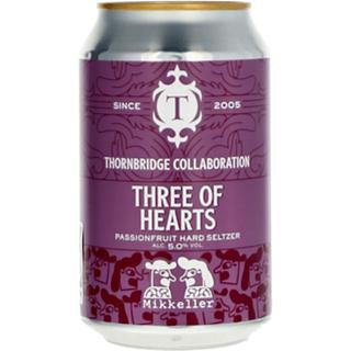 ソーンブリッジ スリー オブ ハーツ  パッションフルーツ ハードセルツァー 缶 1ケース (5度/375ml×12本)<予約商品・10月末頃より出荷予定>¶