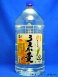 本格むぎ焼酎25度 うまか麦 25° 5000ml ペットボトル 鹿児島県 若松酒造