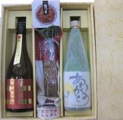 東大阪産の酒米を使った日本酒・芋焼酎ありがとうラベル・おつまみセット