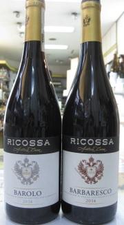 RICOSSA(リコッサ)バルバレスコとバローロ、2本セット