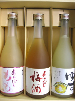 梅乃宿酒造(梅酒・もも・ゆず酒)