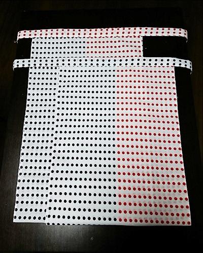赤紺2色で祝いふんどし〜丸太セレクション〜越中 赤紺豆絞り(さらし生地)|ふんどし 褌の通販なら ふんどし手拭い専門店 さくらい