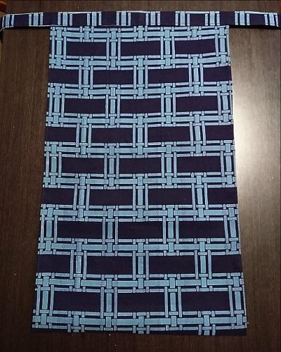 人気の紺地で珍しい柄~水色のラインが目立ってカッコいい~丸太セレクション~越中 編み籠 |ふんどし 褌の通販なら さくらい