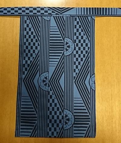 越中 青色車(特岡生地)|珍しい青色