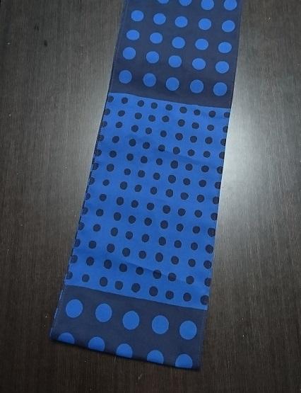 青紺の珍しい豆絞り〜1反のみの限定数で終わり〜丸太セレクション〜六尺半幅 青豆絞り(徳岡生地)|ふんどし 褌の通販なら さくらい