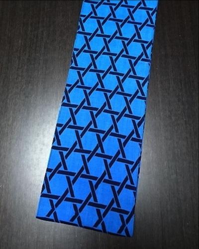 青地に編み籠のデザイン〜贈り物にも最適〜丸太セレクション〜六尺半幅 青かご ふんどし 褌の通販なら さくらい