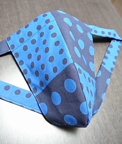 青紺の珍しい豆絞り~限定数で終わり~丸太セレクション~黒猫 青豆絞り(徳岡生地)|ふんどし 褌の通販なら さくらい