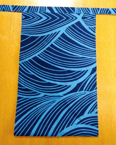 越中 青大波(特岡生地)|紺地に水色できれい