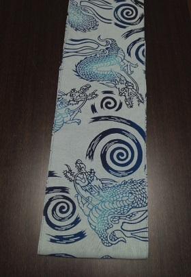 青い龍が輝く~ギフトにも最適~男を輝かせる柄~丸太セレクション~六尺半幅 青龍(特岡生地)|ふんどし 褌の通販なら さくらい