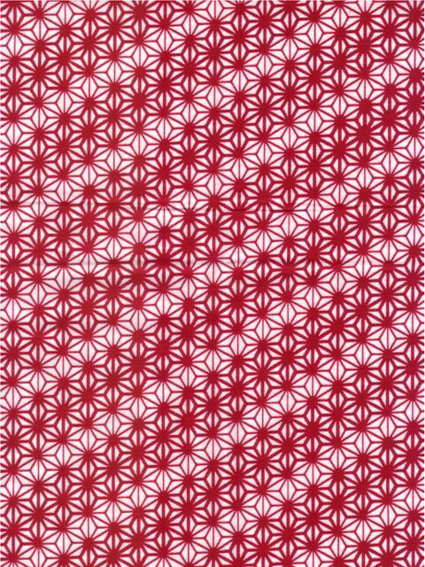 粋な江戸手拭い 麻の葉 赤|ふんどし 褌の通販なら ふんどし手拭い専門店 さくらい