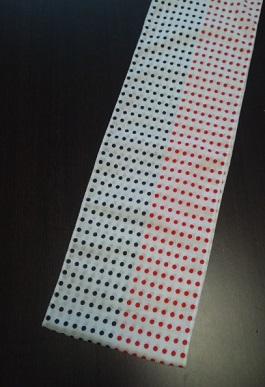 赤紺2色で祝いふんどし〜丸太セレクション〜六尺半幅 赤紺豆絞り(さらし生地)|ふんどし 褌の通販なら さくらい