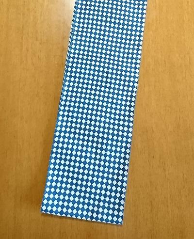 六尺半幅 斜め市松|きれいな青白