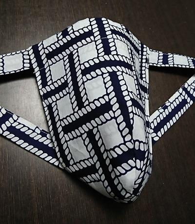 黒猫 縄編み(特岡生地)|大きな編みで大胆