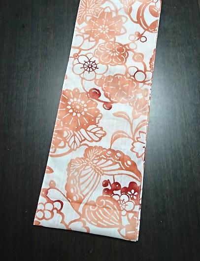 襦袢生地のようなサラサラの肌触り~ぼかし柄でのキレイな色です~丸太セレクション~六尺半幅 琉球の花(襦袢生地)  ふんどし 褌の通販なら さくらい