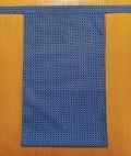越中 青紺菱形(綿100%薄い生地)|きれいな青