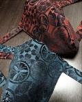 メタリックカラーで輝く褌!キラキラで見せつける〜丸太セレクション〜 黒猫 輝く家紋(綿50%ポリエステル50%)|ふんどし 褌の通販なら さくらい