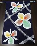 初夏にピッタリ〜紺地にフルーツ色の花が咲く〜丸太セレクション〜越中 果実の花(手拭い生地)|ふんどし 褌の通販なら さくらい