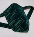 黒猫 緑煉瓦(綿100%)|みどりみどり