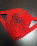 華麗な赤で見せる!お祝いの贈り物にも!丸太セレクション! 黒猫 赤鳳凰(特岡生地)|ふんどし 褌の通販ならさくらい