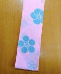 六尺半幅 梅紋(特岡生地)|青グレーの梅が咲く