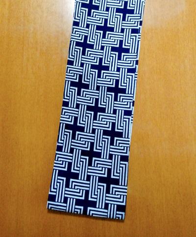 六尺半幅 繋がり(特岡生地)|紺地で使いやすいデザイン
