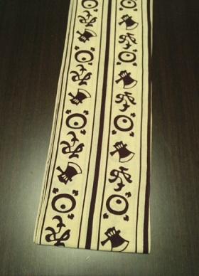 江戸の流行柄「よきこときく」〜粋なデザインでみんなと差をつける〜丸太セレクション〜六尺半幅 よきこときく クリーム(特岡生地)|ふんどし 褌の通販なら さくらい