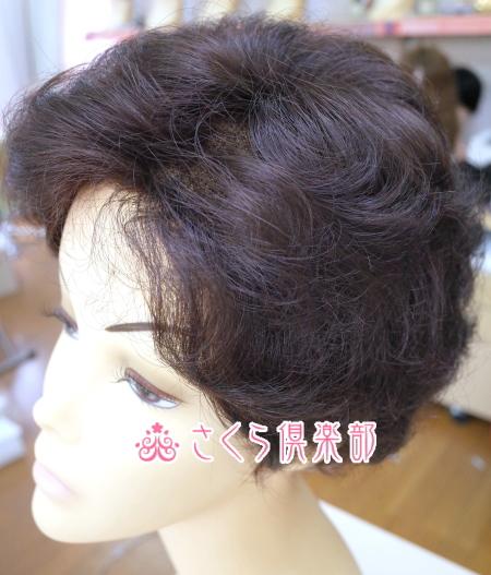 フルウィッグ ミセス・シニア向け  人工毛  ブロースタイル 総手植え製  hm18  医療用にも最適