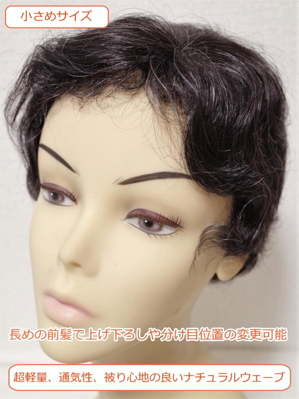 フルウィッグ 人工毛 ミセス シニア向け ウェーブ 5%白髪入hm220s 医療用にも最適