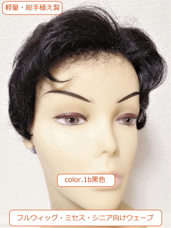 フルウィッグ 人工毛 ミセス シニア向け ウェーブ  hm220 医療用にも最適