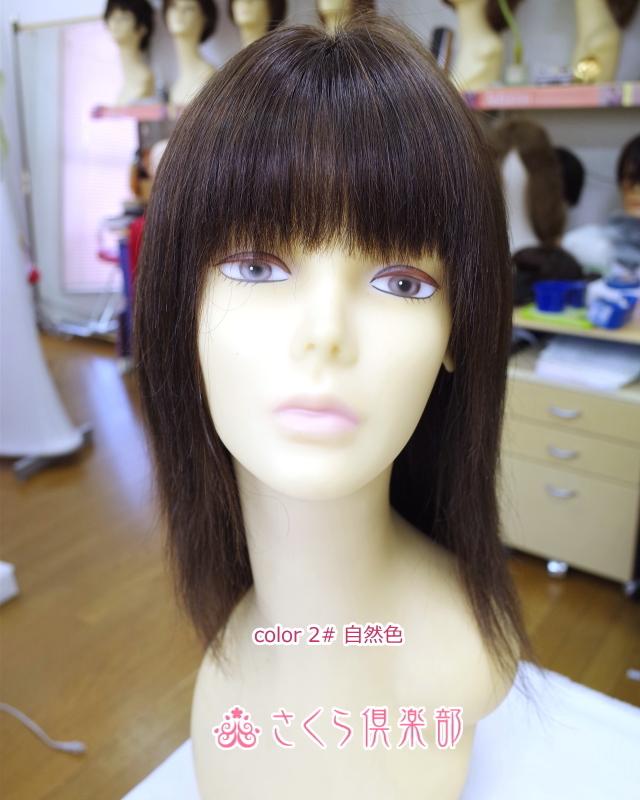 フルウィッグ人毛 かつら ロング 25センチ 総手植え製 sc-hw03 ミセス 医療用にも最適
