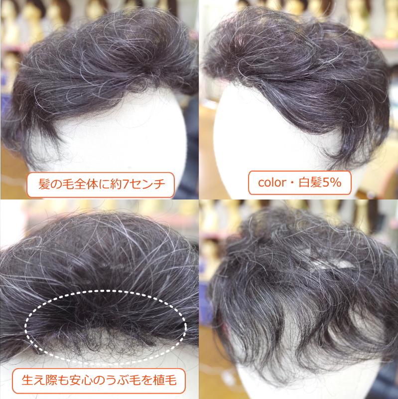 部分ウィッグ穴あき かつら ミセス向け 人工毛 ショートカール Lサイズ 総手植え製  top-200 医療用にも最適
