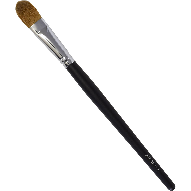 【ネコポス対応可能】黒軸ロングタイプ ARBS12-3 アイシャドーブラシ イタチ毛100%  化粧筆 プロ仕様 メイクブラシ さくら筆 熊野筆