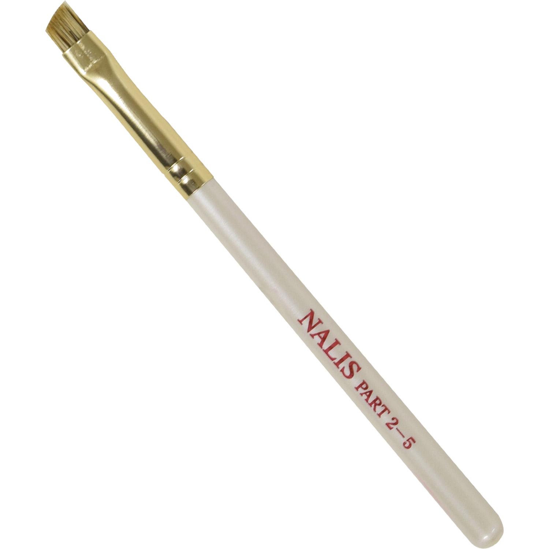 【ネコポス対応可能】NALIS2-5 アイブロウブラシ ウォーターバジャー100% 上品なパールホワイト さくら筆 熊野筆