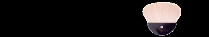 扇型パウダーブラシ
