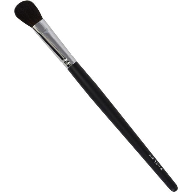 【ネコポス対応可能】黒軸ロングタイプ ARBS12-4 アイシャドーブラシ 馬毛100%  化粧筆 プロ仕様 メイクブラシ